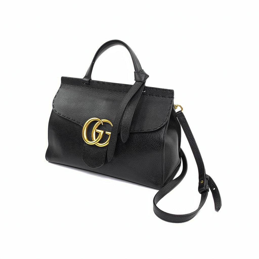 gucci marmont satchel handbag black