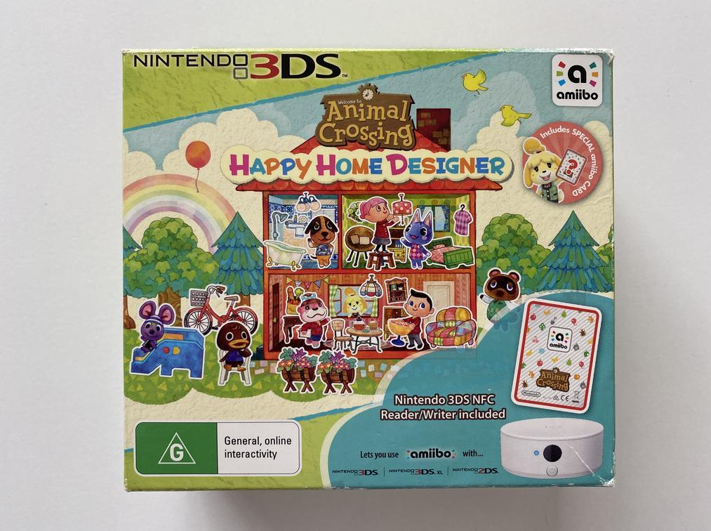 Animal Crossing Happy Home Designer with NFC Reader Writer No Game or Cards Nintendo 3DS