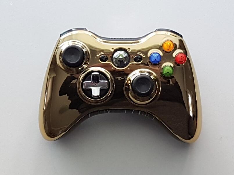 Microsoft Xbox 360 Wireless Controller - Chrome Gold Microsoft Xbox 360