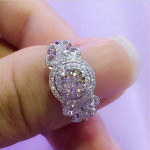 2ct Sterling Silver CZ Wedding Style Ring
