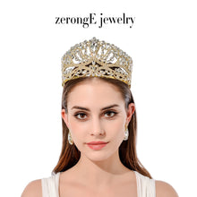 Gold Crown with Matching Earrings