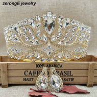 Crown with Matching Earrings