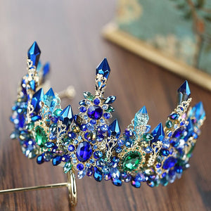 Blue Rhinestone Crown/Tiara