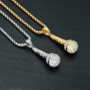 Stainless Steel  Microphone Necklace for Men
