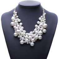 Chunky Simulated Pearl Necklace