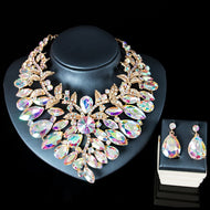 BIG Beautiful Bridal Necklace and Earring Set