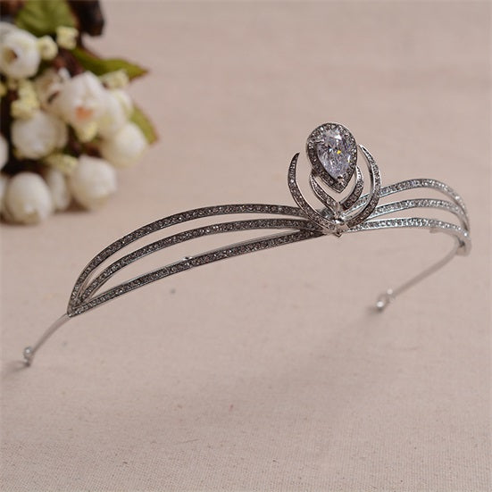 'Reading' Rhinestone Tiara - The Royal Look For Less