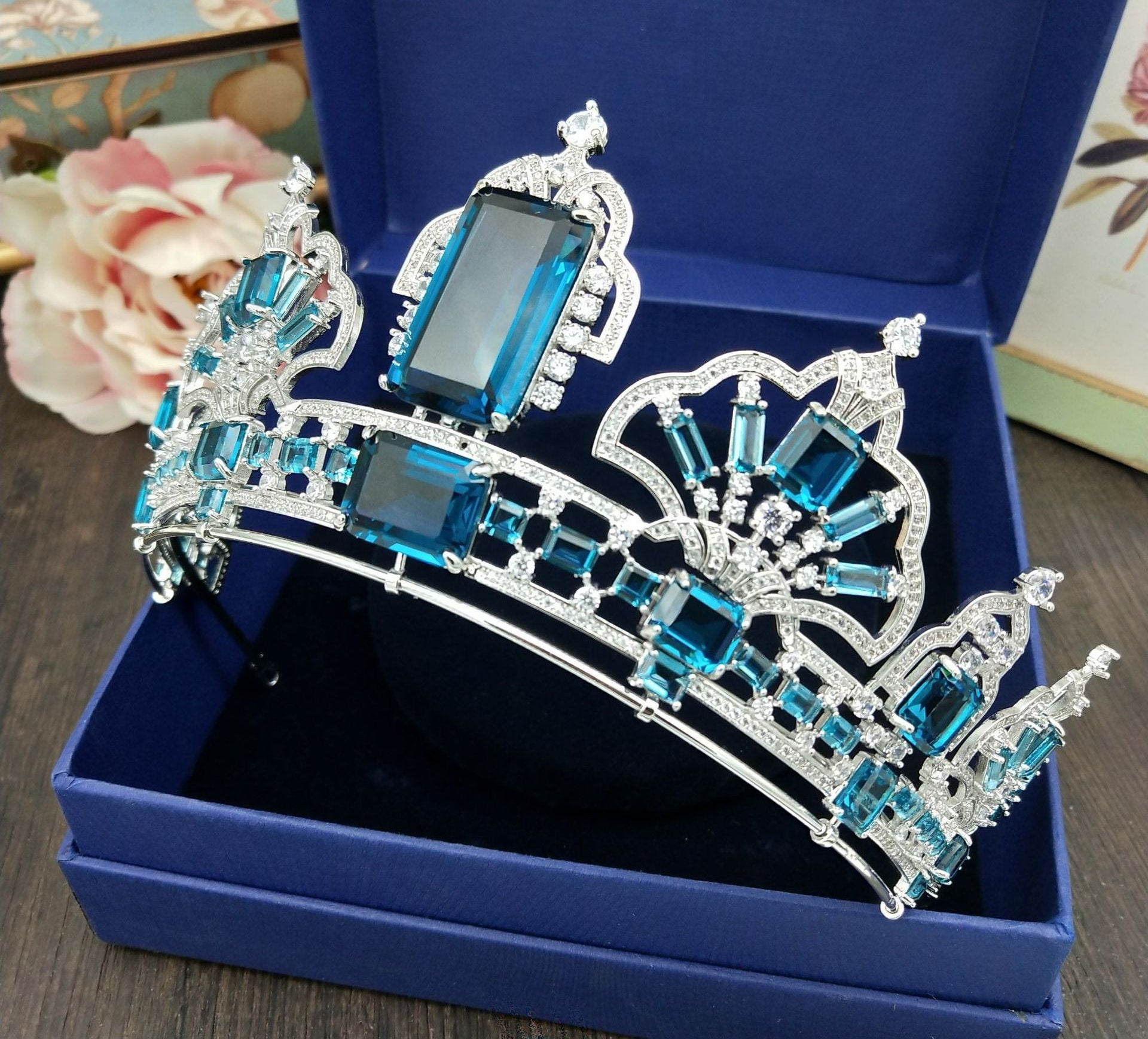 'Azure' Crown Zircon - The Royal Look For Less