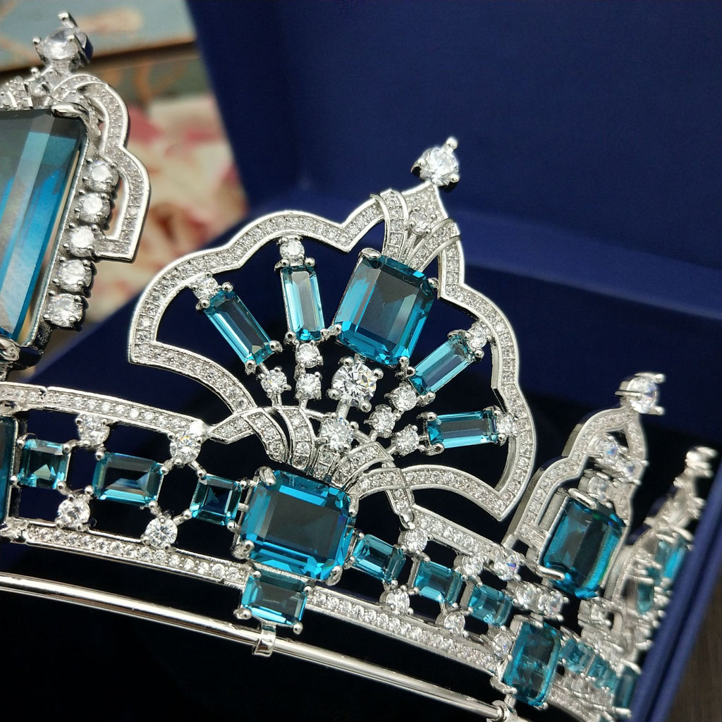 Brazilian Aquamarine Tiara Replica - The Royal Look For Less