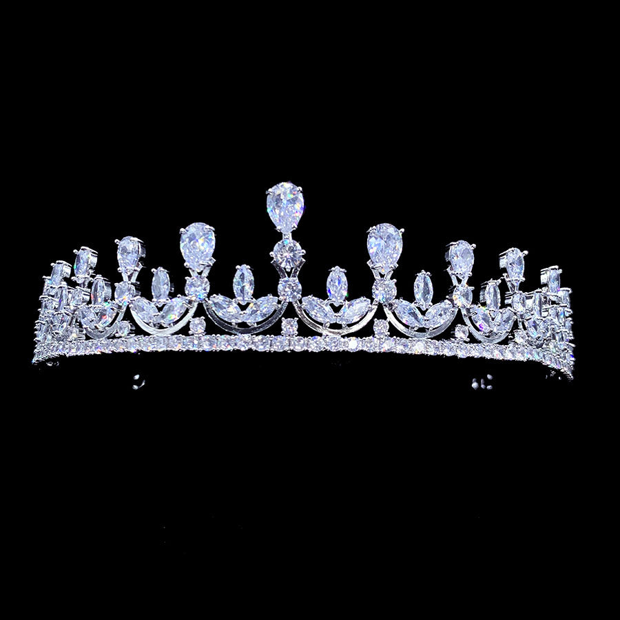 'Louise Anne' Crystal Tiara - The Royal Look For Less