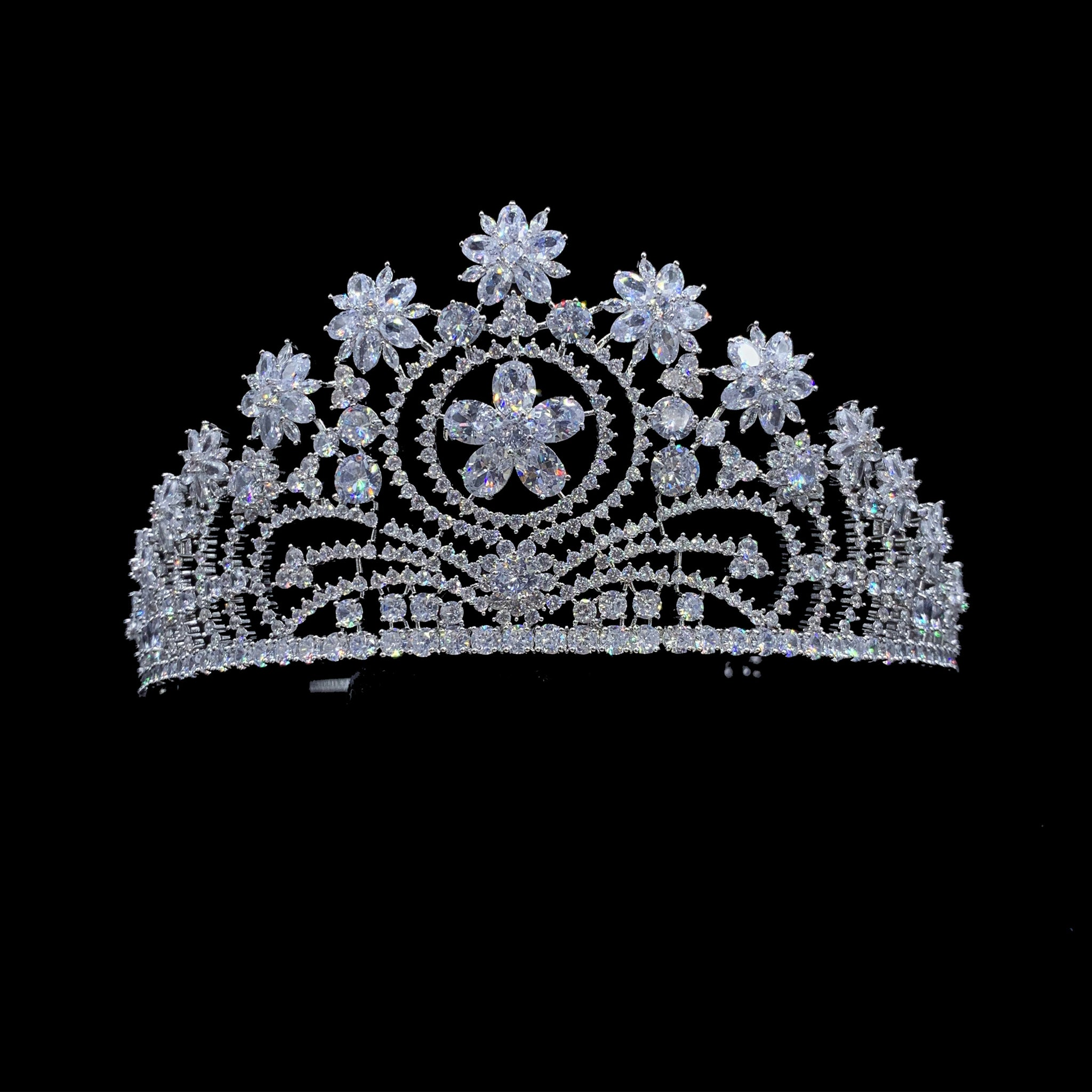 'Exquisite' Flower Tiara - The Royal Look For Less