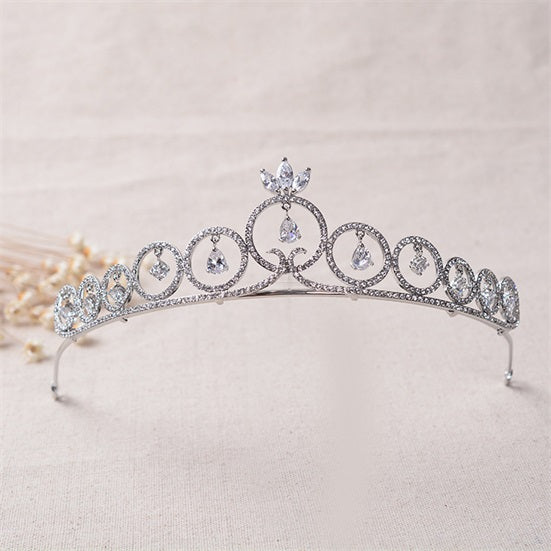 'Olivia' Rhinestone Tiara - The Royal Look For Less