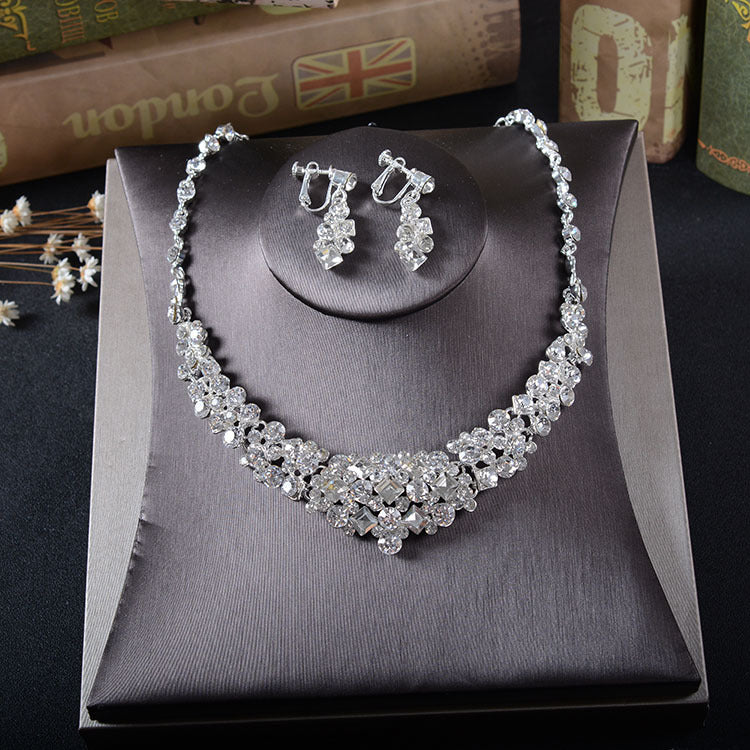 'Preston' Necklace & Earring Set - The Royal Look For Less