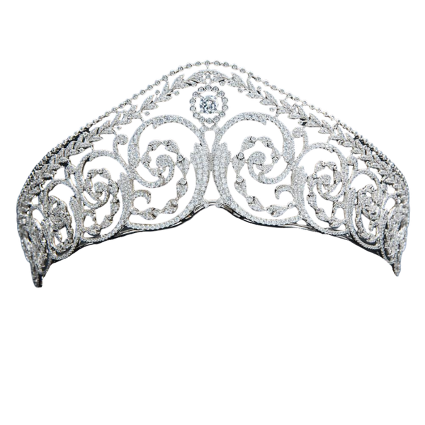 Diamond Scroll Wreath Tiara Replica - The Royal Look For Less