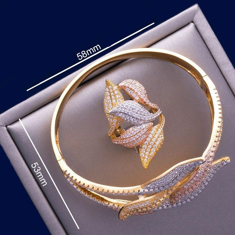 Luxury 'Mirabella' Bracelet and Ring Set - The Royal Look For Less