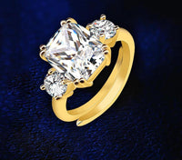 Meghan Markle Engagement White Crystal Ring Replica (Resizable)