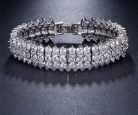 'Georgina' Luxury Crystal 3 Rows Zircon Bracelet