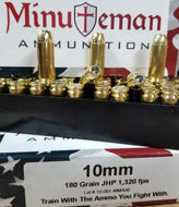 10mm 180 grain JHP @ 1,300fps