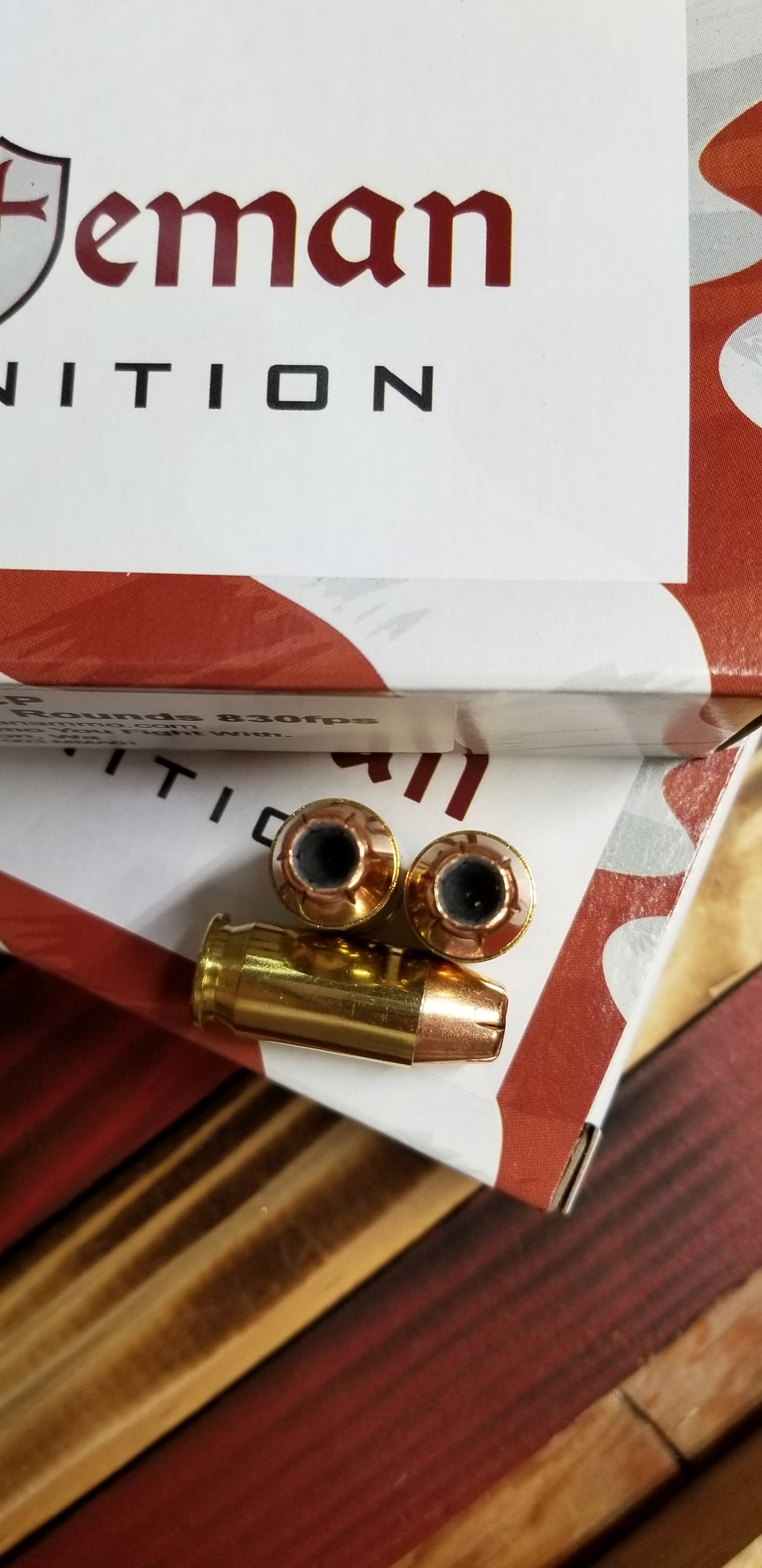 45 ACP 230 grain XTP @ 880 fps. 50 rounds