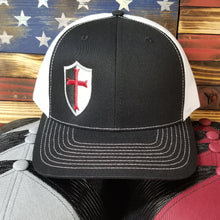 Black and White Trucker Style Hat w/ Logo