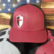 Cardinal and Black Trucker Style Hat w/ Logo