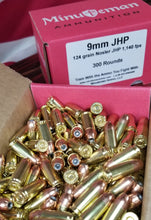 9mm 124 grain Nosler JHP @ 1,150 fps. Bulk.