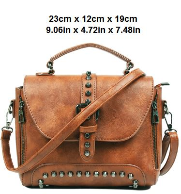 Vintage Leather Cross Body Bag For Woman