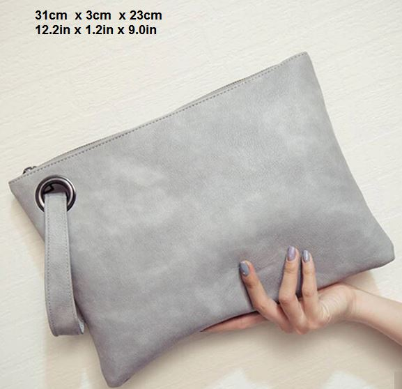 Marvelous Women's Leather Day Clutch Bag