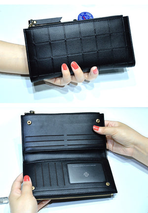 Slim Woman Wallet With Double Zipper