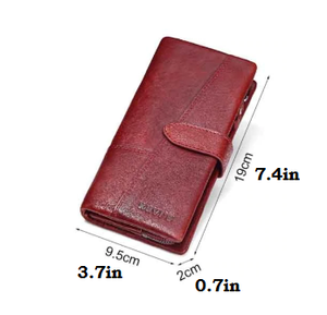 Genuine Italian Leather Women Wallet w/ Coin Purse