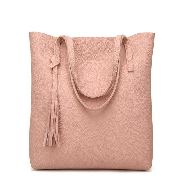 Lovely Leather Tote Bag