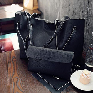 Soft Leather Bag With Wallet Included