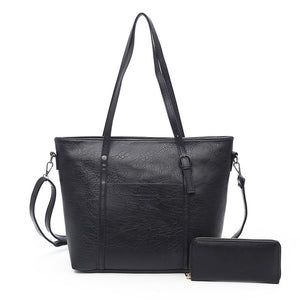 Classy Large Capacity Shoulder Bag With Wallet For Woman