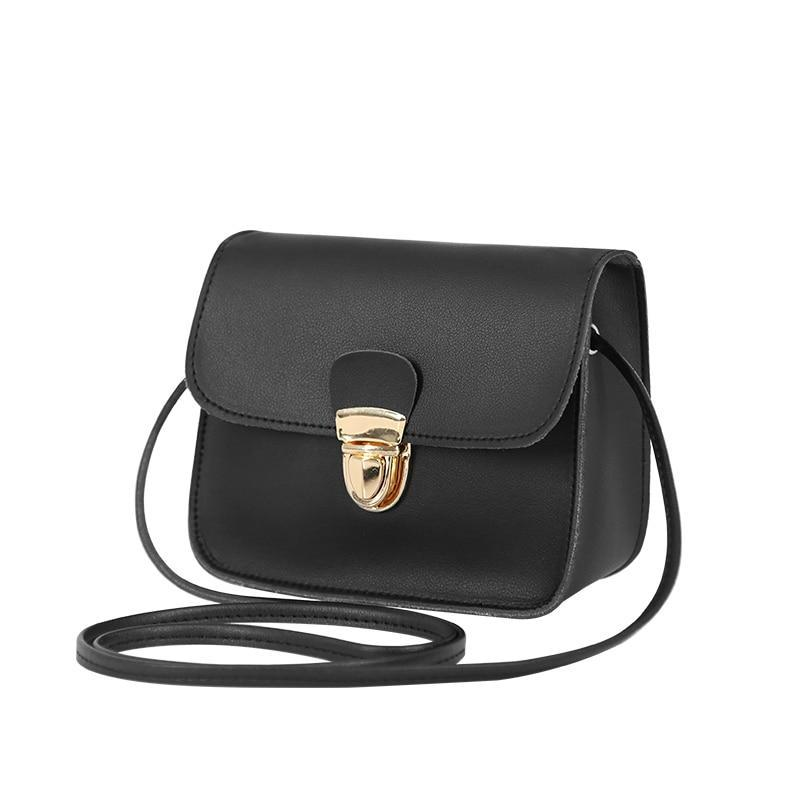 Lovely Small Flap Leather Shoulder Bag