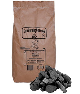 5kg Real Lumpwood Hardwood BBQ Barbecue Charcoal.