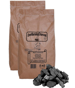 10kg Real Lumpwood Hardwood BBQ Barbecue Charcoal.