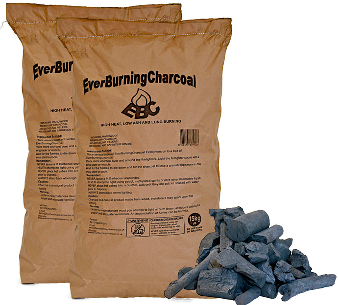 30kg Super Premium Real Lumpwood Hardwood Restaurant Charcoal.