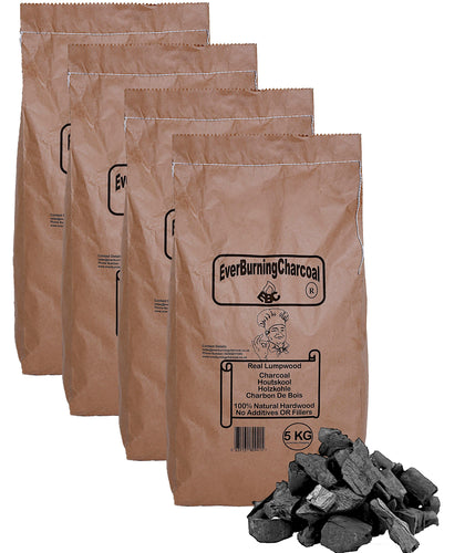 20kg Real Lumpwood Hardwood BBQ Barbecue Charcoal.