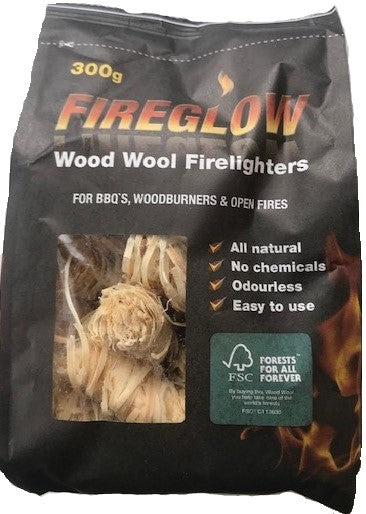 FIREGLOW Natural Wood Wool Firelighter