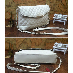 Elegant Quilted Messenger Bag - Simply Marble
