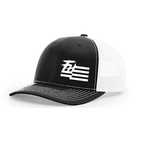 Freedom Hard Hat: White Logo on Black