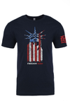 """Lady Liberty Freedom Hard"" Tee"