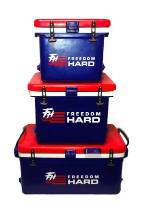 Freedom Hard Patriotic Red White and Blue Coolers
