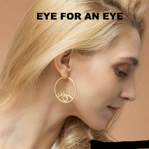 Yellow Gold Plated AAA + CZ Eyes Earrings