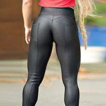 High Waist Push Up Leather style Leggings