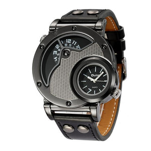 Top Brand Luxury Leather Strap Military Sport Wristwatch Male Clock relogio masculino