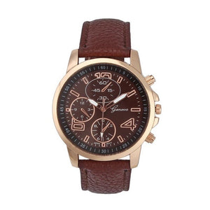 Womens watches Faux Leather strap wristwatch