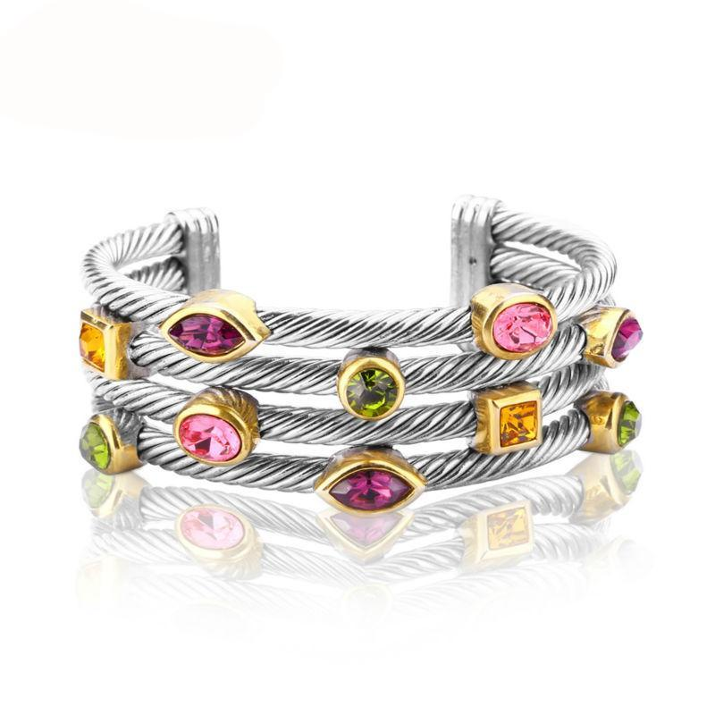 Bracelet Multi Twisted Cable Wire Bangle