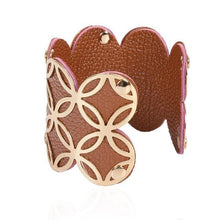 Women Cuff Bracelets Multicolor Punk Style PU Leather Bangles
