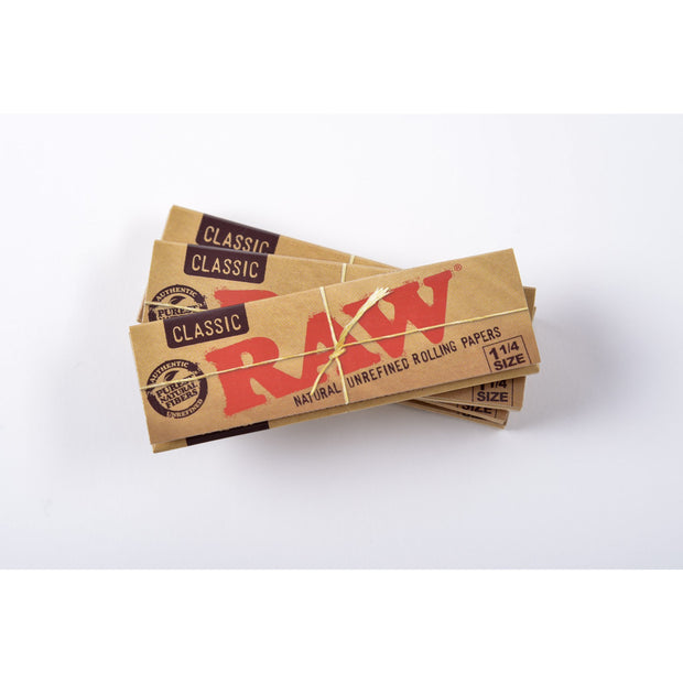 Raw Unrefined Classic 1 1/4 Size Cigarette Rolling Papers